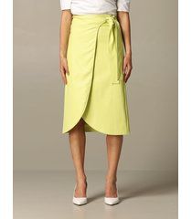 armani exchange skirt armani exchange midi skirt in synthetic leather