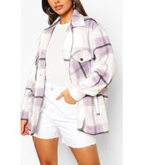 petite flannel shirt jacket, lilac