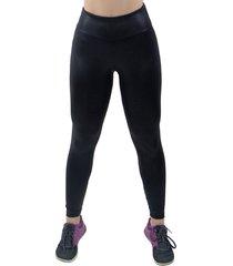 calã§a 4 estaã§ãµes feminina liso cintura alta fitness legging cirre preta - preto - feminino - poliã©ster - dafiti
