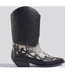 mango dalton ankle boots - black