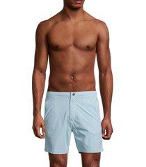 onia men's calder pinstriped swim shorts - green - size s