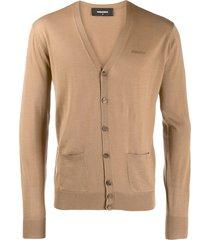 dsquared2 slim-fit cardigan - brown