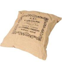 almofada de tecido de linho cologne com enchimento
