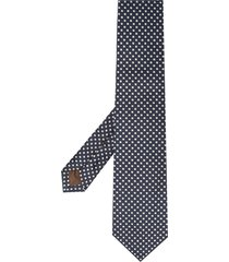 church's geometric embroidered tie - blue