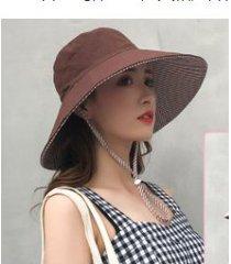 nuevo protector solar para mujer, sombrero para el sol, café