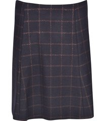 red valentino checked skirt