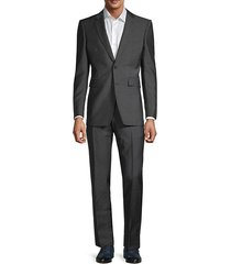 2-piece wool-blend standard-fit suit jacket & pants set