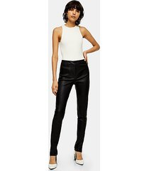 *black skinny leather pants by topshop boutique - black