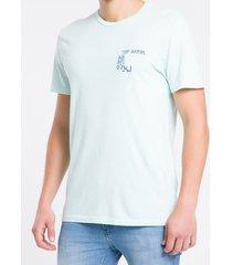 camiseta mc regular silk meia reat gc - verde claro - pp