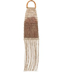 jil sander fringed braided tote - neutrals