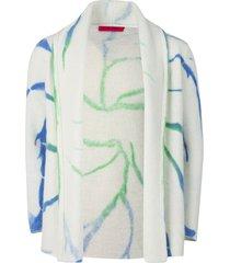 tie-dye cyclone italy smoking jacket ivory