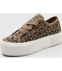 zapatilla urbana leopardo marrón bruno rossi