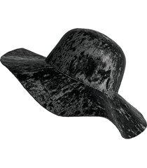 cappello panama del velluto classico dell'azzurro dell'oro classico fedora del cappello di inverno di grande dimensione del bordo del feltro di floppy del fumetto
