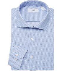 tonal print dress shirt