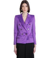 alexandre vauthier blazer in viola polyester