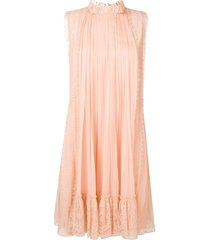 alberta ferretti draped mini dress - pink