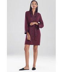 jersey essentials silk sleep & lounge bath wrap robe, women's, size m, josie natori