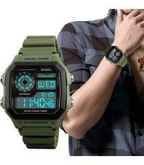reloj rectangular militar hombre skmei sport sumergible