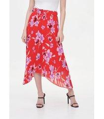 falda print skrit rojo calvin klein