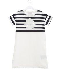 moncler striped logo t-shirt dress