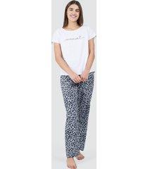 pantalon mujer animal print color gris, talla m