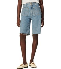 women's sandro denim shorts, size 10 us - blue