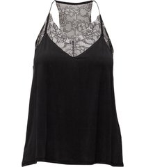slipin top 6202 blouse mouwloos zwart samsøe & samsøe