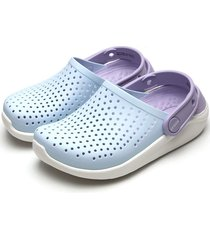 babuche crocs menino literide clog k azul