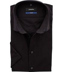 seidensticker korte mouw overhemd zwart