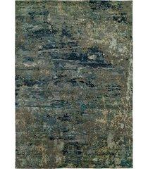 natori lhasa- sandstorm blue rug, silk, size 4 x 6 natori