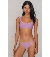 na-kd swimwear thin strap structured briefs - purple