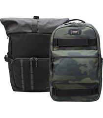 kit mochila oakley mod utility + mochila oakley street skate backpack