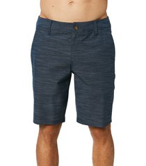men's o'neill locked slub board shorts, size 40 - blue