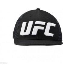 gorra negra reebok ufc logo trucker hombre