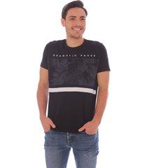 camiseta causal negra - hombre
