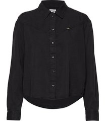 80´s denim shirt black st långärmad skjorta svart wrangler