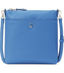 kate spade new york small polly leather crossbody bag - blue