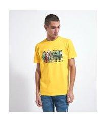 camiseta de manga curta estampa naruto | naruto | amarelo | eg i