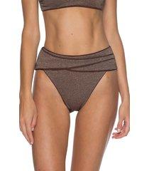 women's becca disco high waist bikini bottoms