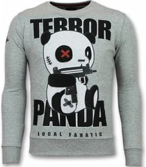sweater local fanatic panda trui - terror sweater - truien -