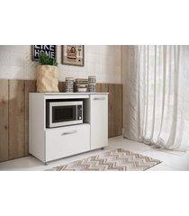 balcão p/ micro com portas branco completa móveis