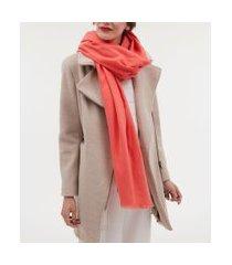 cachecol básico em poliester | accessories | laranja | u