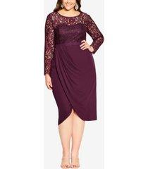 plus size elegant lace dress