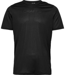 core essence ss mesh tee m t-shirts short-sleeved svart craft