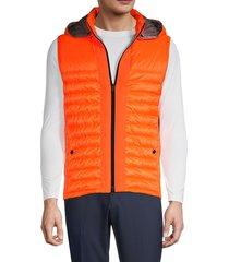 bogner men's hooded puffer vest - orange - size 44