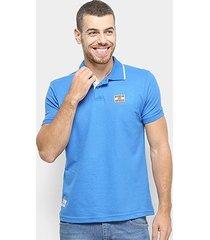 camisa polo ecko piquet logo masculina