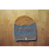 czapka 65% wełna 35% alpaka #szaryżółtybeż