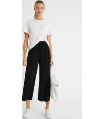 flowing trousers with drawstring - black - m