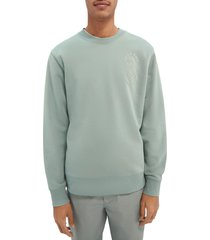 men's scotch & soda felpa graphic sweatshirt, size xx-large - green