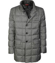 fay check padded jacket